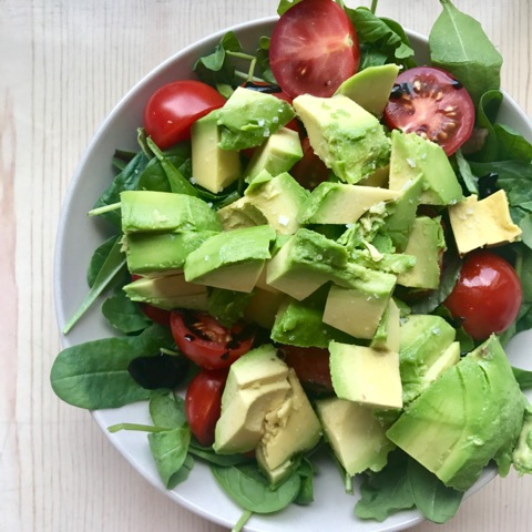Lunch Salad with avocado!