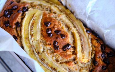 Banana bread with chocolate recipe!
