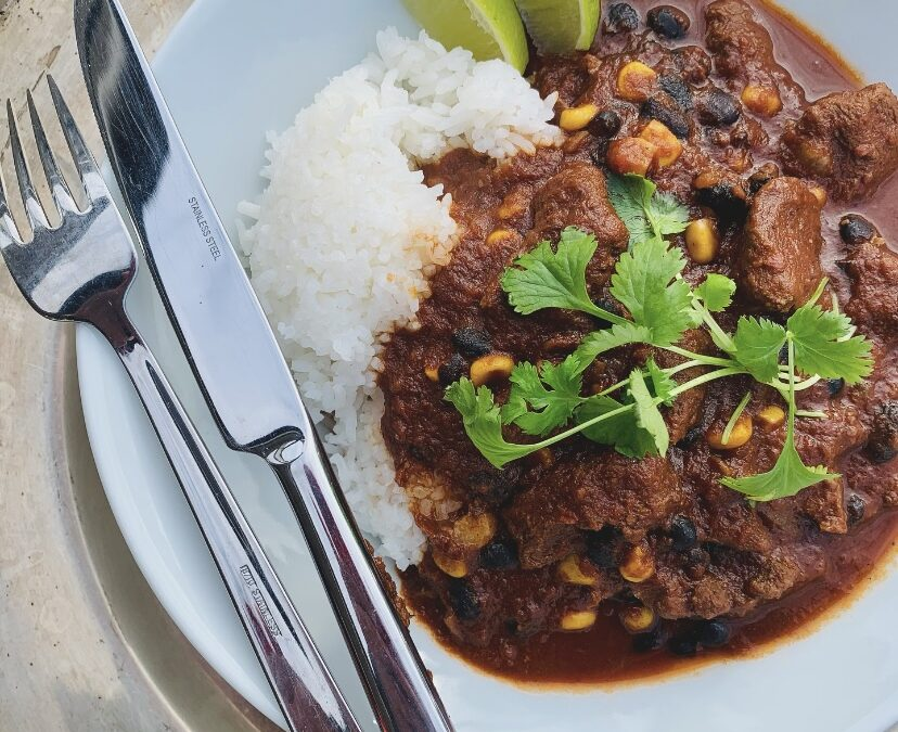 CHILI CON CARNE WITH RIB ROAST